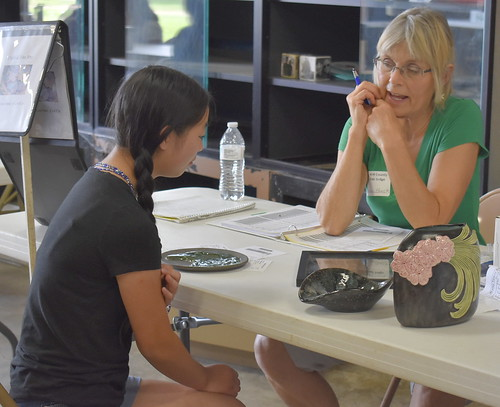 Judging 4-H Projects at the Chisago County Fair