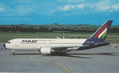 MALEV B-767-200ER HA-LHA (postcard) (KristofCs) Tags: malev hungarian airlines boeing 767 b767 postcard képeslap airline aviation 767200 halha ferihegy airport budapest