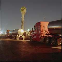 Tankers (ADMurr) Tags: la eastside industrial truck tanker palm night sears hasselblad 500cm 50mm distagon zeiss fuji pro 400 dba806