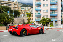 Ferrari 458 Speciale A (Raphaël Belly Photography) Tags: rb raphaël monaco principality principauté mc montecarlo monte 98000 carlo hotel de paris french riviera south france luxury supercar supercars spotting car cars voiture automobile raphael belly canon eos 7d photographie photography casino ferrari 458 speciale a f458 red rouge rosso rossa