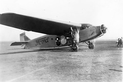 Morrow_0284 Maddux Air Lines Ford Trimotor (1102) at Dutch Flats (Ryan Field), 1928 (San Diego Air & Space Museum Archives) Tags: nc1102 c1102 1102 madduxairlines madduxair maddux cn4at7 4at7 twa aviation aircraft airplane airlines airliners stoutmetalairplanecompany stout ford ford4atatrimotor ford4ata fordtrimotor trimotor tingoose wrightaeronautical wright wrightj4whirlwind wrightj4 wrightwhirlwind