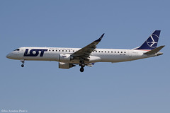SP-LNF (Baz Aviation Photo's) Tags: splnf embraer erj195lr lot polish airlines lo heathrow egll lhr 27l lo281
