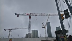 Right from the corner (Draulerin Photographics) Tags: construction condos crane clouds