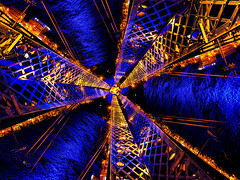 LYON'S NiGHT (XP °°° LiGHTPAINTING is MAGiK °°° Photosplus) Tags: lyons night rotation x3 lyon france europe city ville ciudad lflp lpwa omd olympus sirui photography photographie lightpainting light lumière luz bridge pont hot chaud cold froid bleu blau blue azul orange oranga jaune yellow amarillo gelb color colors couleur couleurs infinitexposure longexposure long exposure maxime photo max pateau photosplus xp