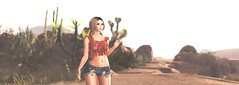 rise up... (Quinnsley) Tags: secondlife fashion slphotography portrait art coppercanyon desert rise summer hot cactus landscape