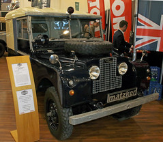 Rijkswacht Landy (Schwanzus_Longus) Tags: techno classica essen german germany uk gb great britain british england english old classic vintage car vehicle military army police rijkswacht 4x4 awd 4wd offroad offroader land rover 80 series 1