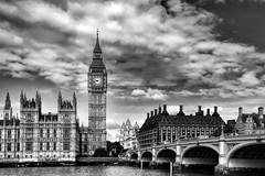 London! (WilliamND4) Tags: london england blackandwhite blackwhite bigbentower bridge thames river