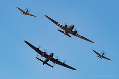 Trenchard Formation (Al Henderson) Tags: 2018 aviation avro bbmf dc3 dakota douglas egva fairford lancaster mk356 pa474 ps915 planes raf riat spitfire supermarine trenchardformation za947 airtattoo airshow battleofbritainmemorialflight military summer