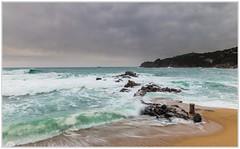 """Días revueltos"" (Gerkraus) Tags: mediterráneo canon paisaje costabrava turquesa olas calella cataluña wave spain"