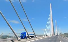 Millau Bridge. (NicolasBum) Tags: scania blue millau bridge france thehighestbridgeever sunnyweather