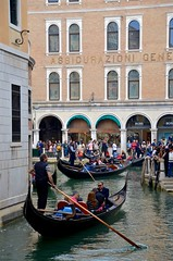 Gondolas On Rio Orseolo (Joe Shlabotnik) Tags: venice italy canal 2019 april2019 venezia italia gondola afsdxvrzoomnikkor18105mmf3556ged
