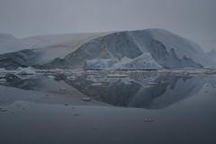 (Camusi) Tags: groenland greenland ice glace iceberg gris bleuté bleu grey blue water eau reflection reflet icecubes glaçon glacier calme bateau barque baiededisko diskobay disko ilulissat dreamcometrue