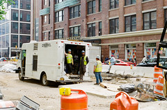 On the Job (GPhace) Tags: 2019 35mm filmphotography gc400 kodak manhattan minoltax700 newyorkcity spring ultramax400 cityscape manualfocus streetphotography