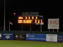 DSCN3916 (mestes76) Tags: 060818 duluth minnesota stadiums wadestadium baseball sports nwl northwoodsleague duluthhuskies scoreboard