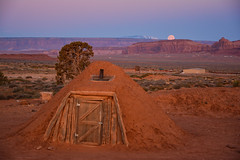 The Hogan at Sunrise (winnieyklai) Tags: hogan navajo monument valley sunrise dine