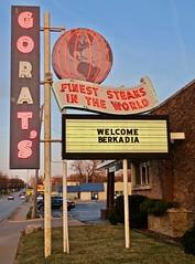 Gorat's, Omaha, NE (Robby Virus) Tags: omaha nebraska ne restaurant sign signage neon steaks finest world food globe gorats steakhouse beef
