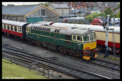 No D6515 LT Jenny Lewis RN 11th May 2019 Swanage Diesel Gala (Ian Sharman 1963) Tags: no d6515 lt jenny lewis rn 11th may 2019 swanage diesel gala class 33 station engine railway rail railways train trains loco locomotive passenger heritage line river frome corfe castle 33012