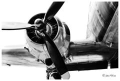 "Douglas ""Dakota"" C47 Prop (FidoPhoto (John McKeen)) Tags: prop propeller douglasc47 douglasc47skytrain aircraft airplane aircraftengine aeroplane blackwhite blackandwhitephotography blackandwhite highcontrast metallic metal southafrica johannesburg graphic graphicdesign graphicimage douglasdc3 douglasdakotadc3 wing aircraftwing"