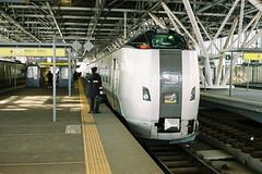 Kamui Limited Express (しまむー) Tags: minolta himatic e rokkor 40mm f17 kodak gold 200 北海道・東日本パス 特急 hokkaido jr express