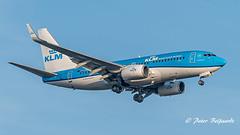 PH-BGP  Boeing 737-7K2(WL) - KLM Royal Dutch Airlines (Peter Beljaards) Tags: haarlemmermeer aircraft airplane peterbeljaards flyingblue inbound schiphol arrival klm nikon7003000mmf4556 landing final aviationphotography phbgp boeing737700 pelikaan pelican 737 boeing737 nikond5500 msn38127 cfm567