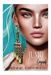Vivienne Earrings AD (junemonteiro) Tags: jumo originals chic glamour jewelry earrings gold