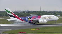 A6-EOH Airbus A380-861 (ICC Cricket World Cup 2019 Livery) (2) (Disktoaster) Tags: dus düsseldorf airport flugzeug aircraft palnespotting aviation plane spotting spotter airplane pentaxk1