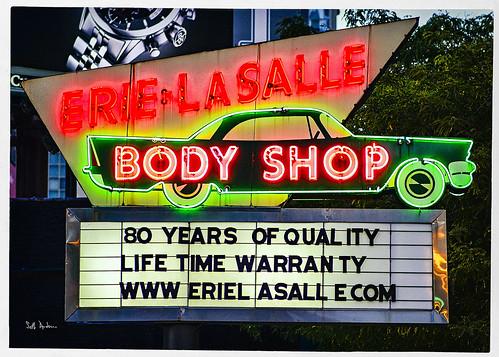 Erie & LaSalle Body Shop Neon