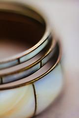 Bracelets (Inka56) Tags: lookingcloseonfriday bracelet three dof closeup brass copper macromondays