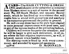 1832  Hairdresser and barber (albany group archive) Tags: 1830s barber 366 south market broadway old albay ny vintage picture photo photograph history historical historic albany