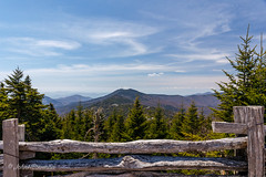 Top of North Carolina (John H Bowman) Tags: northcarolina ncmountains yanceycounty parks stateparks mtmitchellstatepark nationalparks blueridgeparkway mountainviews blueskywispyclouds fencesgates april2019 april 2019 canon24704l