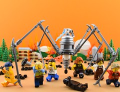 ⚡SLD (Spider Lightning Droid)⚡ (Alex THELEGOFAN) Tags: lego legography minifigure minifigures minifig minifigurine minifigs minifigurines spider lightning droid war fire ash black people city