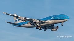 PH-BFT  Boeing 747-406(M) - KLM Royal Dutch Airlines (Peter Beljaards) Tags: airplane aircraft 747 jumbo klm airliner phbft landing schiphol eham ams inbound final msn28459 cf680 peterbeljaards plane vliegtuig approach jetliner nikond5500 nikon70300mmf4556 aviationphotography tokyo cityoftokyo