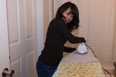 Caught in the act of ironing (Chris-Creations) Tags: amateur asian attractive beautiful beauty chinese cute esposa feminine femme fille girl glamour gorgeous lady lovely mei mujer niña people petite portrait pretty sweet wife woman женщина 女孩 女人 性感 妻子