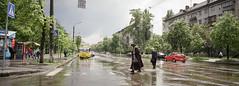 Crossroads - Xpan (dmitriy.marichev) Tags: hasselblad hasselbladxpan hasselbladxpan45mmf4 film analog street city kiev fuji pan panorama style scape tram road crossroad fujifilmfujicolorpro400hprofessionalcolornegativefilm 35mm