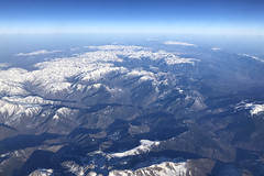 Over The Pyrenees, February 21st 2019 (Southsea_Matt) Tags: ggatk britishairways ba2633 airbus a320232 iphone7 february 2019 winter aviation windowseat windowview spain thepyrenees mountains snow