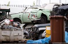 Scrap yard (Nivek.Old.Gold) Tags: scrap yard nissan figaro daihatsu sportrak