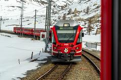 Around Bernina: A friendly wave (3/3) (jaeschol) Tags: 3509 eisenbahn elektrischelokomotive europa europe graubuenden grischuna kantongraubünden kontinent lokomotive poschiavo regionbernina schweiz suisse switzerland transport chemindefer railroad railway abe 814 abe814
