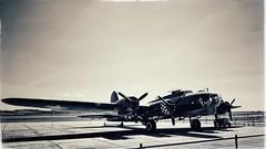 May 1943, Memphis Belle at RAF Bassingbourn … (marc.barrot) Tags: shotoniphone monochrome vintage uk cb22 cambridge duxford duxfordaerodrome iwmduxford 4485784 sallyb b17g memphisbelle flyingfortress b17 boing aircraft