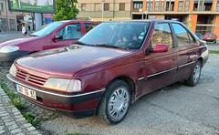 1992 Peugeot 405 1.6 (FromKG) Tags: peugeot 405 16 1992 red car kragujevac serbia 2019