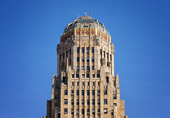 Buffalo City Hall II (Jack Landau) Tags: buffalo city hall western new york ny court street art deco highrise skyscraper building blue sky canon 5d jack landau