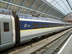 Eurostar train at London St. Pancras International. (calderwoodroy) Tags: trainshed eurostar train stpancrasinternational railwaystation station london england