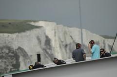 Klippen Dover Ausfahrt Fährhafen Dover, Juli 2014