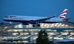 G-NEOS - Airbus A321-251NX - LHR (Seán Noel O'Connell) Tags: britishairways ba speedbird gneos airbus a321251nx a321 a21n heathrowairport heathrow lhr egll 09l ba633 baw633 ath lgav aviation avgeek aviationphotography planespotting nightphotography