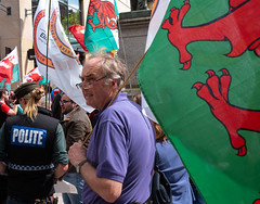 Polite protest (Nikonsnapper) Tags: leica m10 summicron 35mm street cardiff protest independence colour wales polite