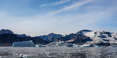 Back to sea, beyond the inshore ice........ (apcmitch) Tags: sailing sea icebergs mountains glaciers greenland eastgreenland2014 dolphin sonya7 seascape
