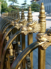 Dragon Fence (Toats Master) Tags: smileonsaturday fancyfence fence dragon gold china