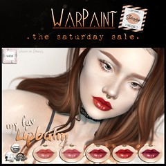 WarPaint @ TheSaturdaySale - my fav Lipbalm (Mafalda Hienrichs) Tags: warpaint war paint secondlife saturday sale mainstore event promotion discount applier makeup lipstick lipbalm catwa lelutka omega genus