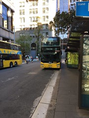 B Line Double Deckers at Wynyard (Simon_sees) Tags: sydney commute publictransit publictransportation publictransport sydneybuses doubledecker decker bus bline
