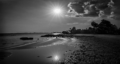 Diamonds in the Sand (JDS Fine Art Photography) Tags: beach water sunset monochrome glitter glittering diamonds leadinglines inspirational dramatic cinematic beauty naturalbeauty naturesbeauty ocean landscape oceanscape nature elitegalleryaoi bestcapturesaoi