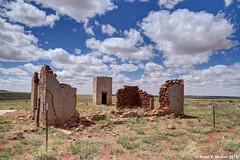 Crumbling (walkerross42) Tags: abandoned ruin stonehouse vault granary adobe stone house structure walls arizona desert plains ranch